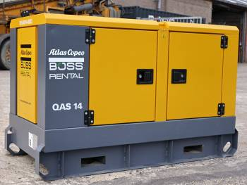 Used heavy machinery Atlas Copco QAS 14KVA SILENT (KUBOTA ENGINE) Stromaggregat